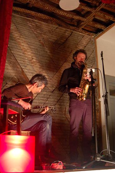 With Jean-luc Guionnet At Associação Verde Rubro, Porto 2013. Photo By Marta Ribeiro