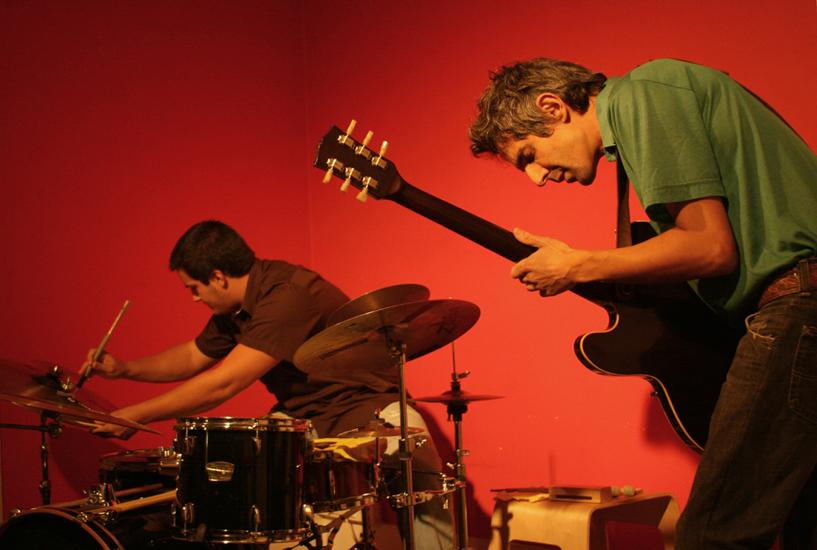 With Gabriel Ferrandini @ Trem Azul 2008, Phot By Cristina Cortez