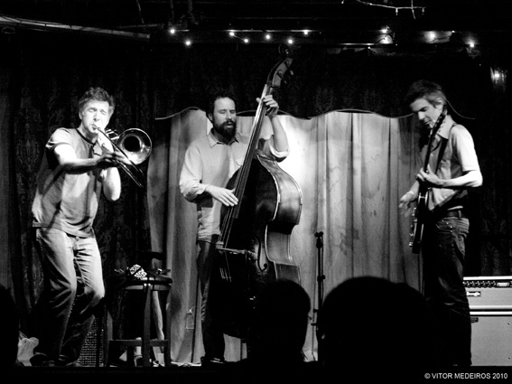 With Jeb Bishop,  Josh Abrams @ Clean Feed Fest. 2010, Hideout Chicago, Photo By Vitor Medeiros